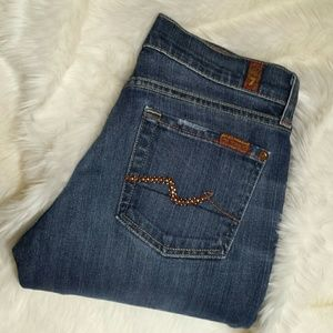 7 For All Mankind Denim - 7 For All Mankind Bootcut Bling Pocket Jeans Sz 26