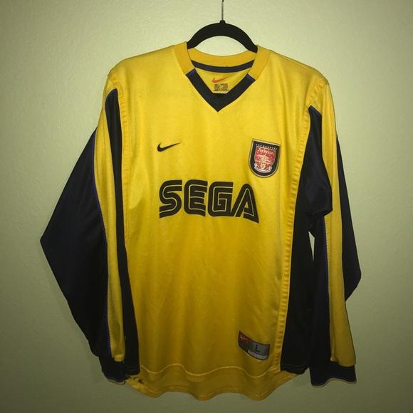 low priced 47a3a 97c3e NIKE Sega Arsenal Soccer Jersey Long Sleeve - Sz M