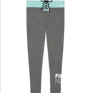 PINK Victoria's Secret Pants - 💙Lace up campus leggings💙