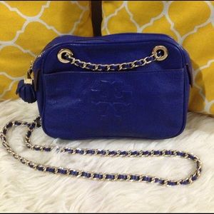 Tory Burch Handbags - 🌸OFFERS?🌸Tory Burch Leather Royal Blue Crossbody