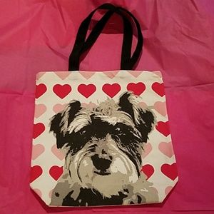 191 Unlimited Handbags - Cute Doggie Red and Pink tote