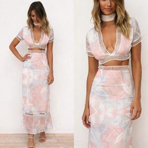 Sabo Skirt Dresses & Skirts - New pink two-piece set