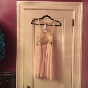 Millau label Crochet top chiffon bottom dress