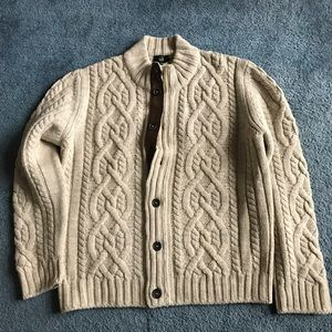 Dunhill Other - 100%Wool with calf skin trim cable knit sweater