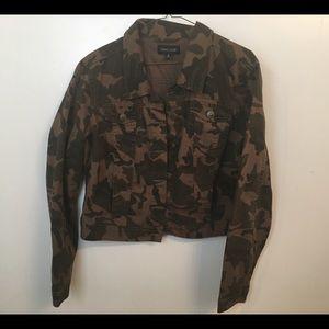 New Look Jackets & Blazers - Women's Camouflage Waist Length Jacket