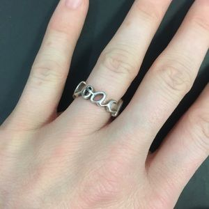 Coach Jewelry - Coach Sterling Silver Cursive Ring