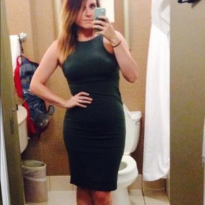want my look Dresses & Skirts - Dark Green, Form Fitting Dress.