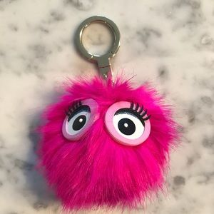 Kate Spade Monster Pouf Keychain/ Bag Charm