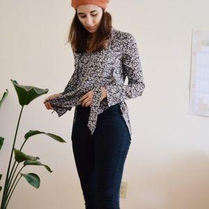 Zara floral tunic/blouse
