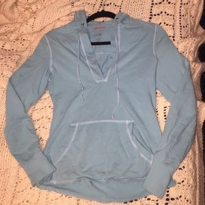 The North Face Tops - The North Face Aqua Blue Pullover Hoodie, XS