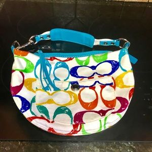 Coach Handbags - Designer coach hobo multicolored large monogram 👛