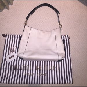 henri bendel Handbags - Henri Bendel Creamy White Leather Hobo Bag