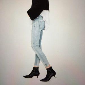 Zara Denim - Zara distressed skinny jeans Ankle zippers