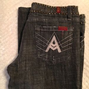 7 For All Mankind Denim - 7 for all mankind A pocket black bootcut jeans!