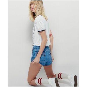 Free People Pants - Free People high rise jean shorts • nwot