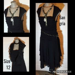 Gorgeous black shimmering San Gria dress! Size 12