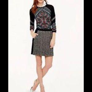 J. Crew Dresses & Skirts - FACTORY POSTAGE STAMP MINI IN CHEVRON STRIPE