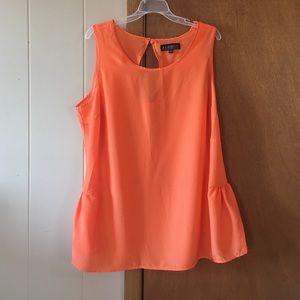 Eloquii Tops - Orange keyhole top