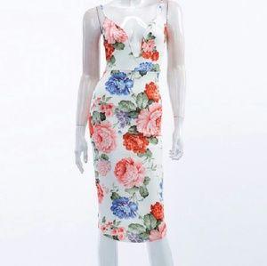 Bodycon Floral Print Dress