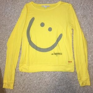 Peace Love World Tops - Peace Love World happy sweater