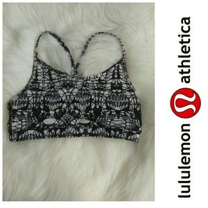 Lululemon Flow Y Bra IV Glacier Lace Sports Yoga