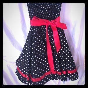Polka dot formal dress
