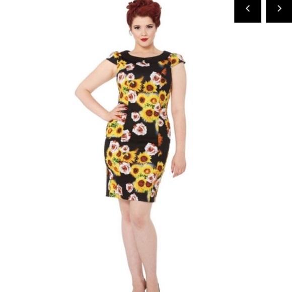 38c719664d10 Voodoo Vixen Dresses   Retro Sunflower Dress   Poshmark