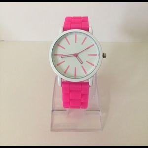 Geneva Platinum Accessories - Hot pink silicon watch💕