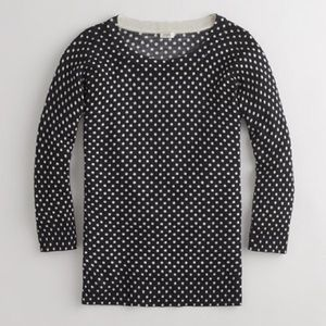 J. Crew Sweaters - J Crew Charley Merino Sweater in Polka Dot