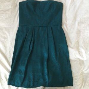 Rebecca Taylor silk strapless mini dress size 10