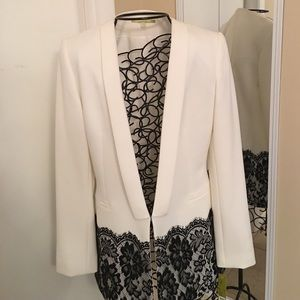 Gianni Bini Jackets & Blazers - NWT Stunning white (ivory). & black lace accent.