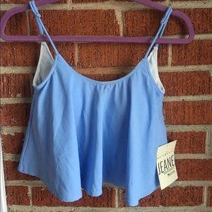 Kortni Jeane Other - Kortni Jeane Swing Powder Blue Swim top NWT