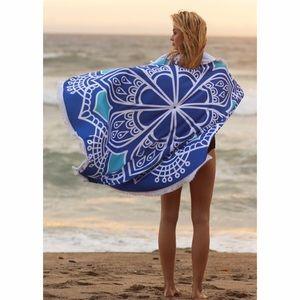 Fabfindz Other - Blue Mandala Beach Throw Cover Up