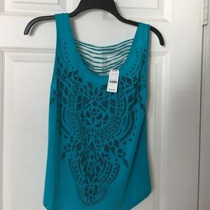 Poetry Tops - Turquoise tank top