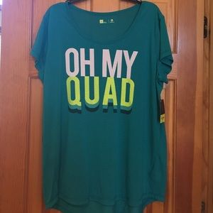 Xersion Tops - NWT🎉 OH MY QUAD TEE💪🏼😂