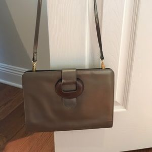 Ferragamo Handbags - Bronze classic leather Ferragamo handbag