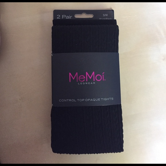 d59c530f8d076 MeMoi Accessories | Legwear Control Top Opaque Tights | Poshmark