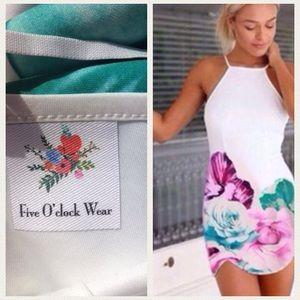 fiveoclockwear Dresses & Skirts - ‼️1-HOUR-SALE‼️Callahan Halter Floral Dress