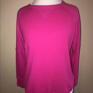 Sweet Romeo Sweaters - Hot Pink Long Sleeve Sweater