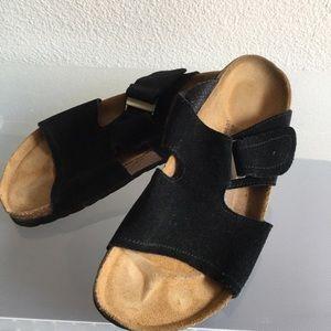 Birkenstock Shoes - Black Suede Birkenstocks