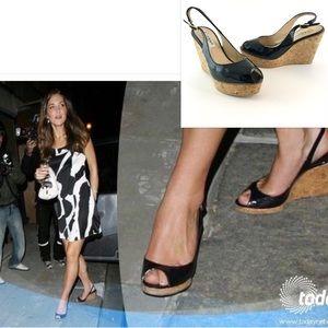 LK Bennett Shoes - LK Bennett Slingback Platform Cork Wedge Heels