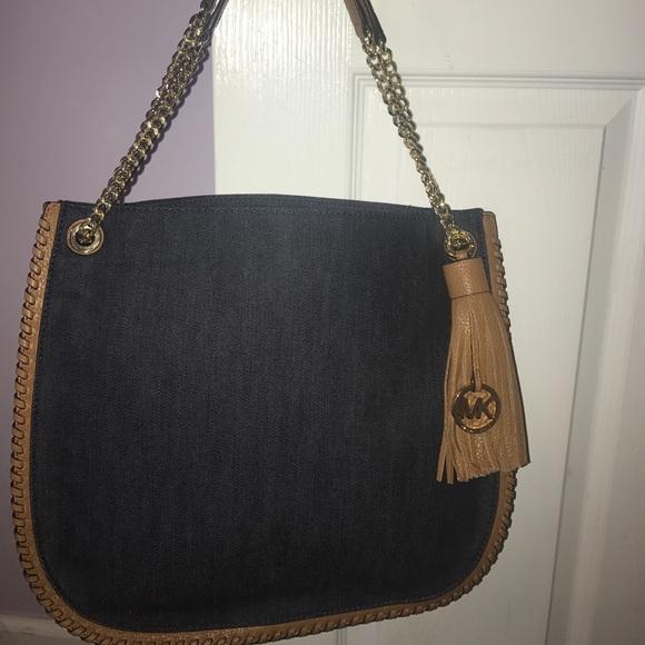 d7a9ad1239b5 Dark denim Michael Kors purse