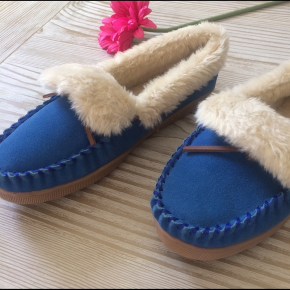 53 off j crew shoes j crew blue suede moccasin for J crew bedroom slippers