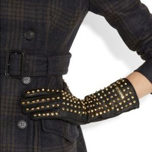 Burberry Prorsum studded leather gloves