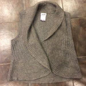 Basler Jackets & Blazers - BASLER Grey Cashmere Mohair Wool Super Luxe Vest