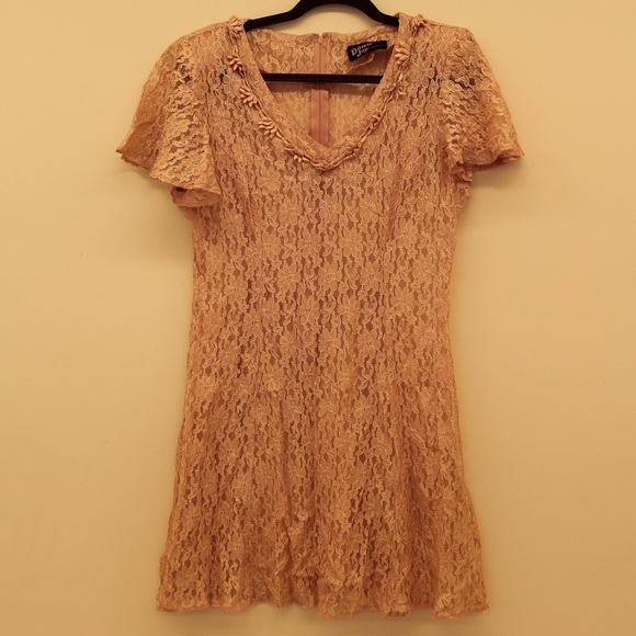 vintage vintage 1990s grunge pink lace dress from hope