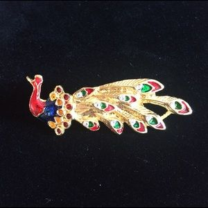 Vintage Jewelry - Vintage Peacock Pin