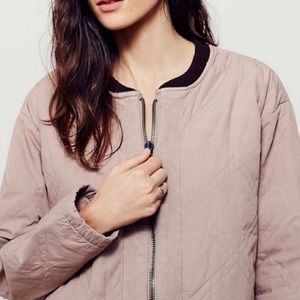 Free People Jackets & Blazers - Free People Quilted Bomber Jacket