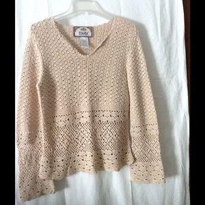 Tops - Tiara International cotton crocheted top size S