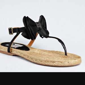 Lanvin Shoes - Auth Lanvin Bow Espadrilles Sandals Shoes